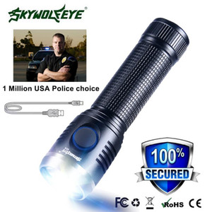 Flashlights Torches Mini Usb Rechargeable T6 Outdoor Military Led Torch Lamp Waterproof Light Camping Riding Portable