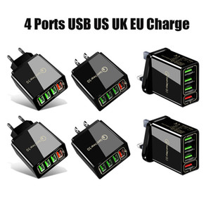 Top Quality Quick Charge 3.0 4.0 USB Charger 3.1A Fast Wall Mobile Phone For 4 Ports Adapter QC Charger