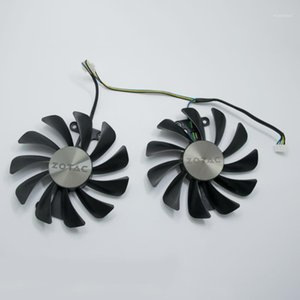 New 95MM GFM10012H12SPA GAA8S2U Cooler Fan Replace For ZOTAC GTX 1070 1080 AMP ED 8GB GTX1080 Graphics Video Card Cooling Fans1