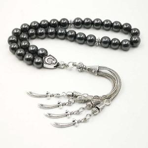 Man's Tasbih Natural stone Hematite Metal tassel Cheap price and good quality prayer beads 33 66 99beads Islam stone Rosary1
