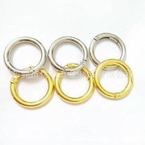 100шт цинкового сплава сплавов Строины серебряные весенние уплотнительные кольца пряжки клипы Carabiner Hiking Comples Сумки круглые кнопки триггер SN JLLGRH 418 x2