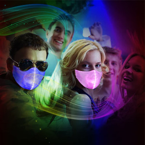 Men LED Light Rave Luminous Mask for 7 Colors Women Face Mask Music Party Christmas Halloween Light Up Masks JK2009XB