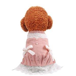 Chien chiot vêtements dames laine robe animal de compagnie chat ajustement petit chien printemps et automne animal de compagnie costume mignon costume chien chiens jupe