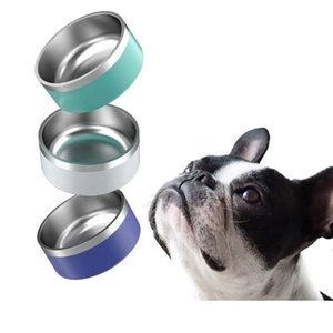 8 Colors Dog Bowls 32 oz Stainless Steel Tumblers Double Wall Vacuum Insulated Large Capacity Cups Boomer Dog Bowl mugs sea ship OWB5013