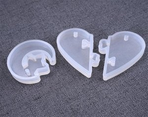 New Home UV Resin Valentine Jewelry Liquid Silicone Mold Love heart Resin Charms Pendant Molds For DIY Decorate Making Jewelry