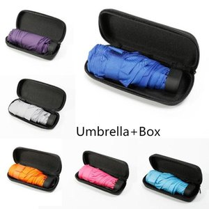 Mini Folding Umbrella Ultra Light Women Protable Umbrella Compact Pocket Umbrella Windproof Rain Sun Umbrellas with boxes WY921