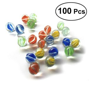 1 Set of 100 16MM Cats Eyes Shooter & Marbles Colorful Patterned Glass Beads Balls for Kids