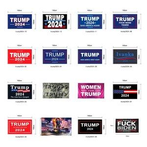 Trump Flag 2024 Election Flag Banner Donald Trump Flag Keep America Great Again 150*90cm 16 Styles Ivanka Trump Flags CYZ2983 Sea Freight