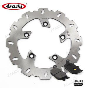 Arashi Rear Brake Disc Rotor and Brake Pads For Yamaha FZ6 600   FZ6 FAZER 600 2004 - 2007   FZ1 1000 2010 - 2014 Motorcycle CNC Brake Disk
