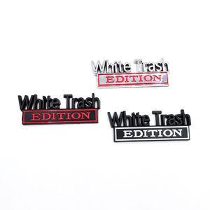 2PCS SET White Trash Whitetrash Edition Emblem Badge Sticker For Ford F-150 F250 F350 Silverado GMC Hummer