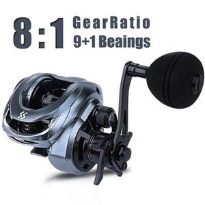 Sougayilang Einzelgriff Baitcasting Rolle 9 + 1BB 8,0: 1 High Speed ​​Casting Rolle Zentrifugalbremsen Power Fishing Pesca