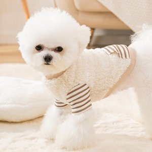 Dog Apparel Pet Clothes For Small Cat Autumn Winter Stripe Soft Dogs Medium-sized Clothing Chihuahua Teddy