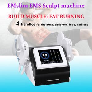 4 handles sculpt EMslim HI-EMT machine EMS Muscle Stimulator electromagnetic fat burning shaping hiemt sculpting beauty equipment free logo