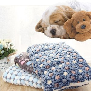 Kennels & Pens Pet Sofa Dog Mat Flannel Sheep Wool Blanket Bed In Autumn And Winter Super Soft Warm Sleeping Supplies