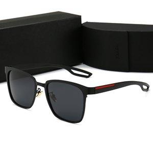 Luxury retro polarizado hombres diseñador gafas de sol UV 400 Adumbral Brand Sun Gafas de sol Gafas de moda con caso