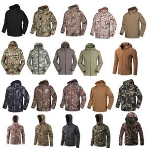Ropa de disparo de caza de bosques al aire libre Tactical Camo Abrigo Combate Ropa Camuflaje al aire libre con capucha Softshell Jacket P05-201