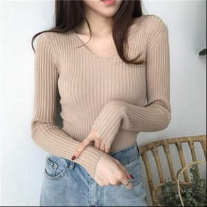 Z 2021 Slim Fit Women Summer New Style Fashion Design V Neck Sweaters Solid Winter Cardigan Wear Long Sleeve Sweat Shirts