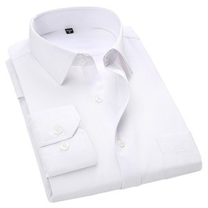 4XL 5XL 6xL 7XL 8XL большой размер мужской бизнес повседневная рубашка с длинными рукавами белый синий черный умный мужской социальный платье рубашка плюс 210225