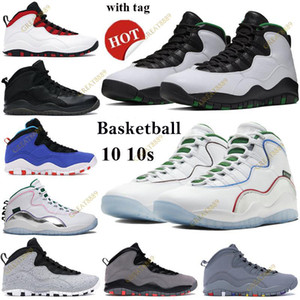 Neue 10 10s Basketball Schuhe Seattle Wings Pulver Männer Frauen Athletic Sneaker Chicago Drake Ovo Black Klasse von 2006 Trainer Tag