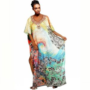African Dresses for Golden Glitter Women Divide Sexy Neck Dressed As a Night Club 3 4 Feast of Mango Tsingle Long Tna Maxi X6kh
