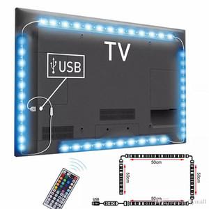 DC5V كابل usb الصمام قطاع ضوء مصباح SMD 5050 تلفزيون الخلفية الإضاءة كيت سطح المكتب خلفية مصباح ل شاشة عرض التلفزيون شاشة عرض الكمبيوتر