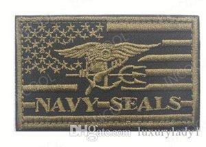 3D Nakış Yama ABD Amerikan Bayrağı ABD Donanma Moral Yama Taktik Amblem Aplikler Mühürler Rozetleri Hookloop İşlemeli Yamalar