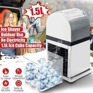Cruseur à glace en acier inoxydable Mini Ice Shavers Manual Manuel de neige Smoothie Maker Maker Broker Machine Machine