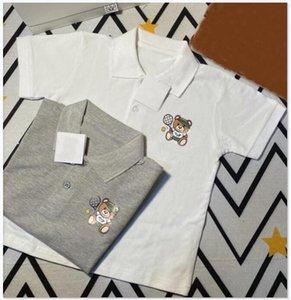 Summer Children Boys Girls T Shirt Cartoon Print Lapel Short Sleeve Kids Clothes T-shirts for Boy Casual Top Tee