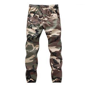 Pantaloni Cargo Casual maschi Abbigliamento Camouflage Mens Designer Cargo Pants Fashion Plus Size Coulisse Stampa Mens