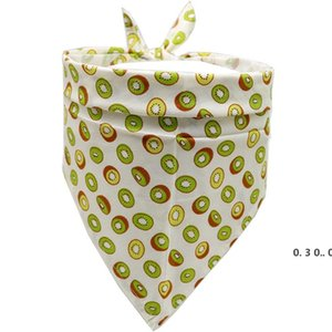 Dog Fruit watermelon pineapp Single Layer Pet Scarf Triangle Bibs Kerchief Pet Accessories Bibs Small Medium Large Dogs Xmas Gifts EWF5197
