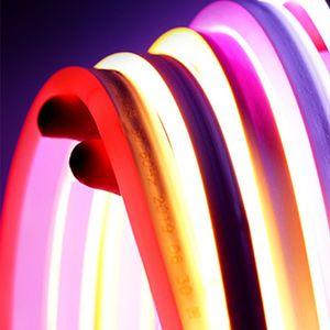 6mm Neon soft LED light bar lighting strips 100 leds m for advertisement decoration