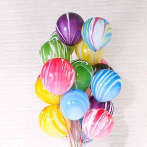 6pcsAgate Color Cloud Children's Day Birthday Party Decoration Wedding Wedding Valentine's Day Decoration Thick Cloud Latex Ball