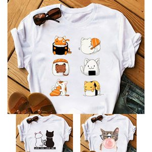 Womens T-shirt shirts short sleeve tops tees womens pullover ladies comfortable Tops new hot selling loose Various cute prints wholesale 21