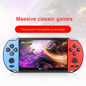 Handheld Game Console Nostalgic 5.1 Inch HD Large Screen 8G Double-rocker NEW X7 Classic Game Retro Mini Handheld Video
