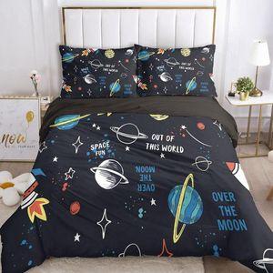 Bedding Sets Cartoon Set For Boys Baby Kids Child Duvet Cover Pillowcase Comforter Blanket Quilt 3D Bedclothes Space