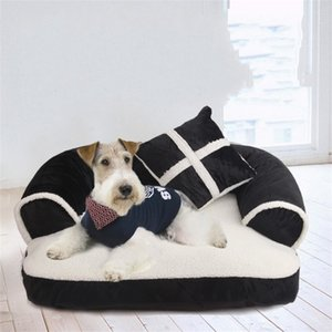 New Four seasons Pet Dog Sofa Beds With Pillow Detachable Wash Soft Fleece Cat Bed Warm Chihuahua Small Dog Bed 675 K2