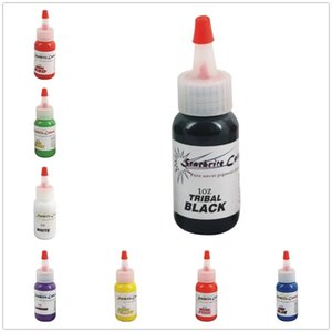 5pcs Professional TRIBAL BLACK Semi Permanent Natural Plant Tattoo Pigment Permanent Makeup Tattoos Ink Pigment For Body Art Paint 30m(1OZ)
