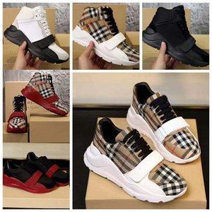 Baskets de haute qualité Chaussures de sport Cuir Vériel Cuir Sneakers Baskets Entraîneurs Stripes Chaussure Fashion Formateur pour homme Wish Wish Box 01