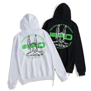 Nuevo OFF COBBIT Head bordado de letras verdes, suéter para hombres y mujeres.