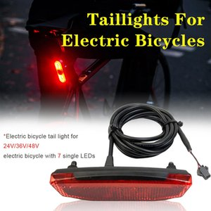 LED Tail Light Ebike Rear Light 36V 48V Safety Warning Rear Lamp E-scooter SM  Waterproof Interface Connections bike tail light