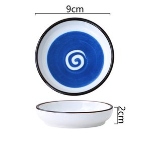 Ceramic Plate Home Kitchen Tableware Kitchen Dip Plate Small Vinegar Plate Soy Sauce Plates 7 Style GWF5214