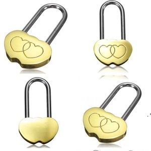 Neue Vorhängeschloss Liebesschloss graviert doppeltes Herz Valentines Jahrestagstag Geschenke 100pcs / lot owa4007