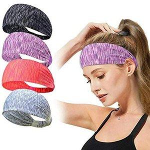 Bande da copricapo da donna 2021 Turban Wide Run Fabbi per capelli Gym Accessori Gymwrap Bandaggio Stampa Copricapo in esecuzione Hearwear Stretch QLKSP
