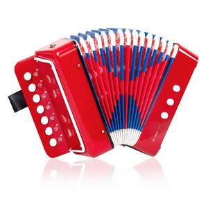 7 keys Buttons Accordion for children red