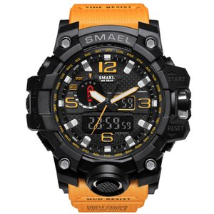 SMAEL Men's Watches New 1545 Brand Men LED Digital Quartz Watch Waterproof All Black Military Sport Man Clock Relogio Masculino