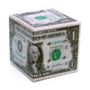 USD Dollar Speed Magic Cube UV окрашены 3x3x3 Ультра-гладкая профессиональная скорость Cube головоломка Twist Toy Lefun