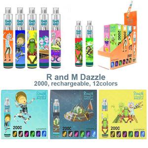 Original Dazzle pro Dazzle Pro Kit de périphérique PRO 6 ml Pods 2000 2600 Vapports 1100mAh Batterie Vape Pen XXL VS BABINES