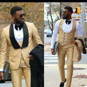 Summer Tempo libero Pantaloni da uomo Suits Plus Size Groom Best Man Jacket Business Business Blazer Blazer Tuxedos su misura 3 pezzi