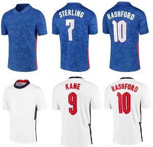 ENGLAND Jersey de fútbol 2021 Alojamiento Sterling Kane Rashford Sancho Mount Abraham Dele Top Calidad 20 21 Camisa de fútbol Tamaño S - 4XL
