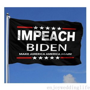 2024 Anti bandeiras de Biden Flags Outdoor Trump Banners 3 'x 5'FT 100D Poliéster Rápido Transporte Rápido Vívido Cor Com Dois Glomets De Bronze